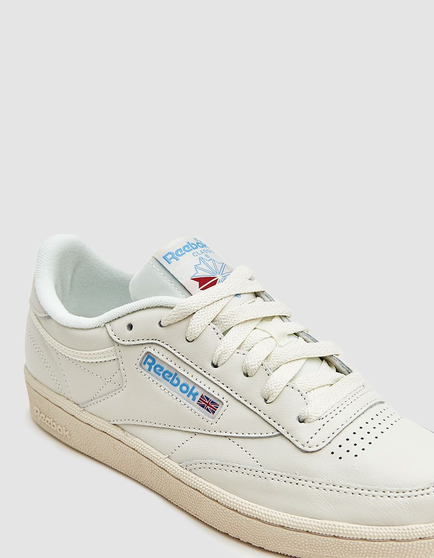 Club C 85 Sneaker In Chalk Paper White Blue Sneakers Reebok Club C Reebok Club