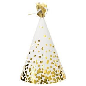 Maybe?? Are fancy party hats still not cool/cute? Haha. | Spritz Party Hats  White Gold Confetti 10 Ct