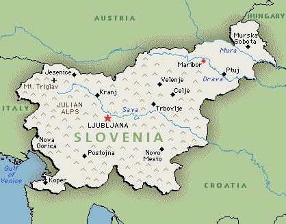 Slovenia Map Google map of Slovenia He Wants to Move WHERE