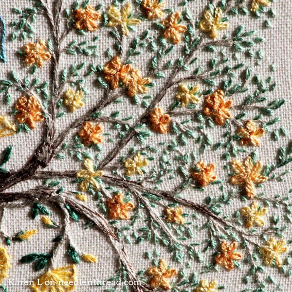 Detail Of Karens Embroidery From The Secret Garden Coloring Book