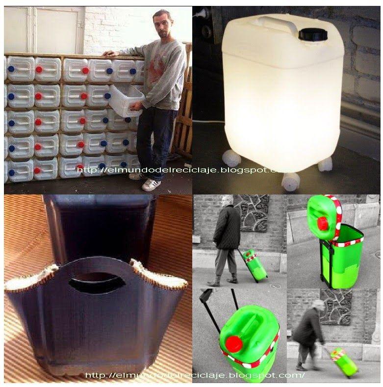 recicla un bid n de pl stico el mundo del reciclaje chidonas pinterest recyclage. Black Bedroom Furniture Sets. Home Design Ideas