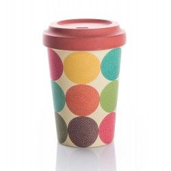 Chic mic Bambus Becher to go BambooCup BRIGHT CIRCLES