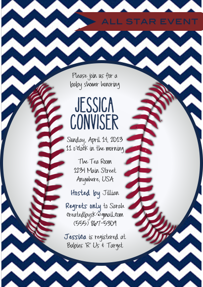 graphic about Free Printable Baseball Baby Shower Invitations identify Cost-free Printable: Baseball Invites youngster showers inside 2019