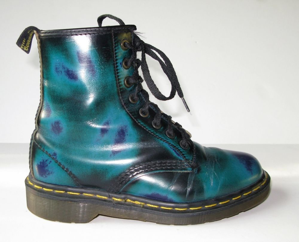 Dr Martens Psychedelic Blue Green Rub
