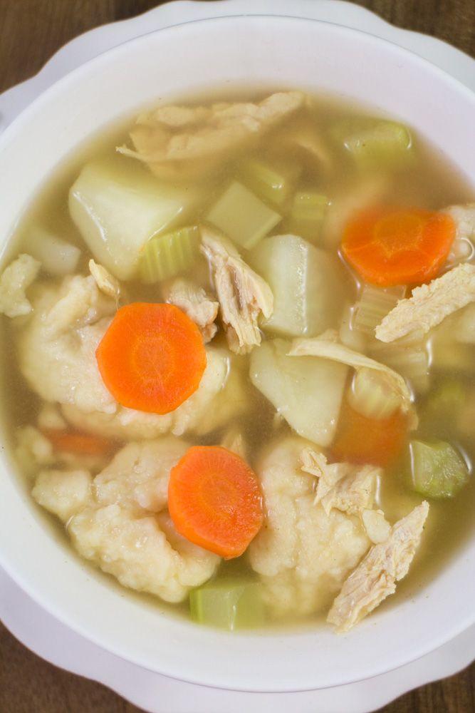 Shredded Chicken Dumpling Soup Recipe Dumplings For