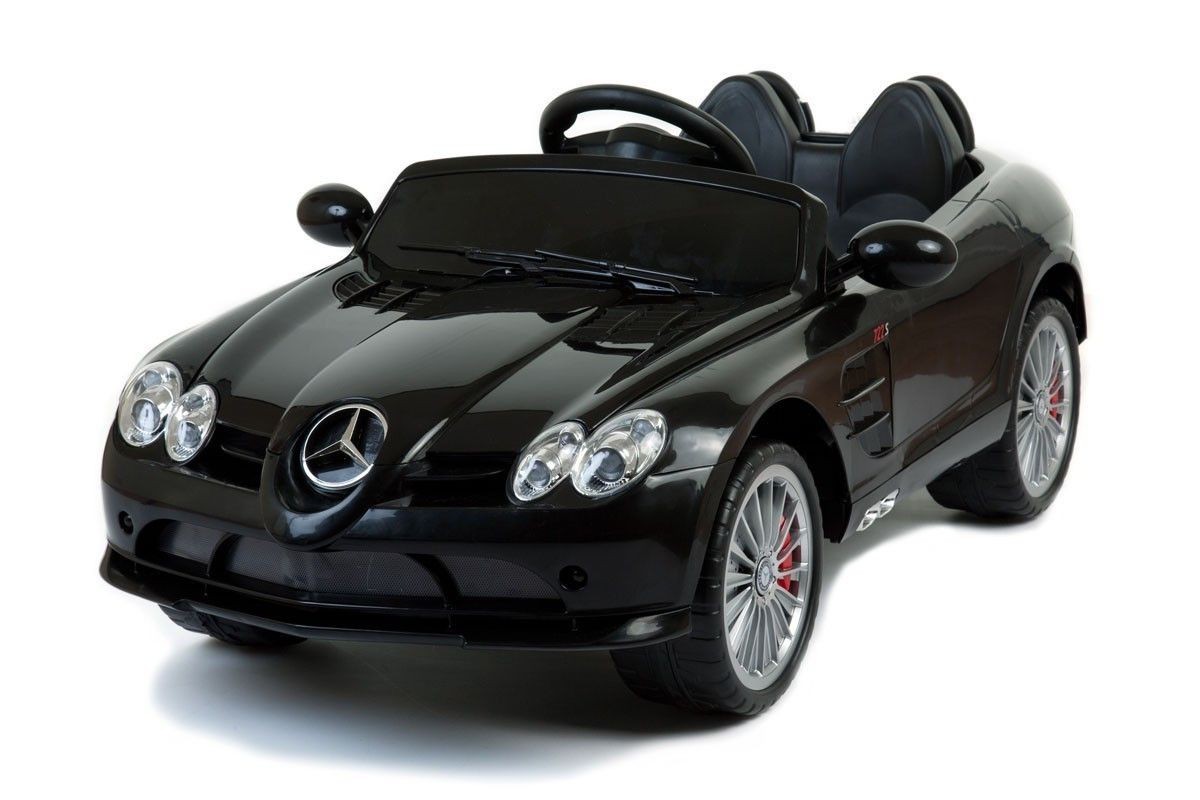 Mercedes Benz Slr Mclaren Ride On Premium Luxury Sedan W Bluetooth Remote Control Genuine Ride On Mercedes Benz Slr Mclaren Slr Mclaren Mercedes Slr Mercedes