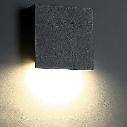 Square Led Outdoor Wall Sconce Outdoor Wall Lighting Farmhouse Wall Sconces Wall Lights