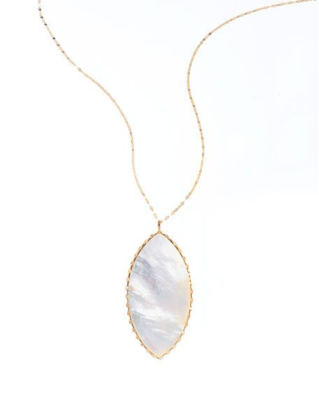Lana Isabella White Mother-of-Pearl Pendant Necklace  $935.00