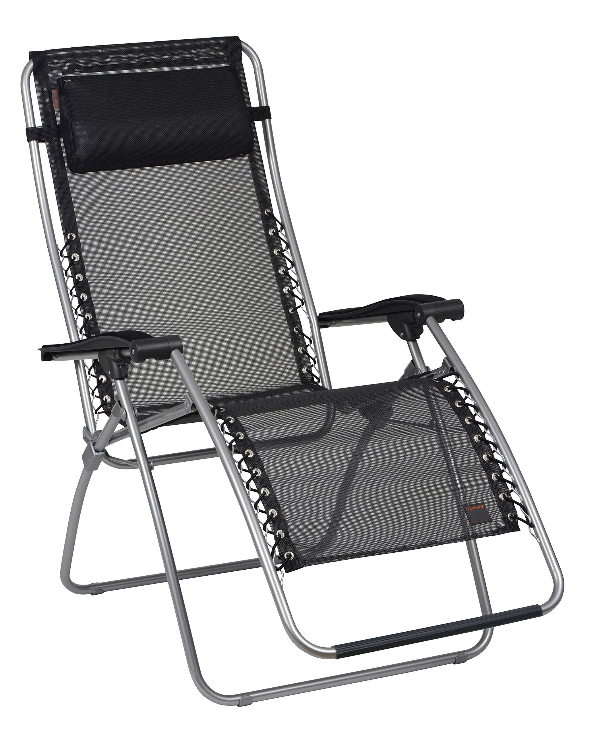 Lafuma Fauteuil Relax Position Reglable Structure En Acier Hle Batyline Rsxa Couleur Noir Lfm12266717 With Images Camping Furniture Folding Chair Outdoor Chairs