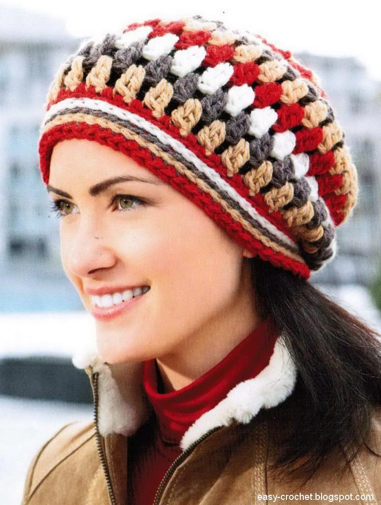Stylish Easy Crochet: Women\'s Hat- Crochet Beanie Hat Pattern ...