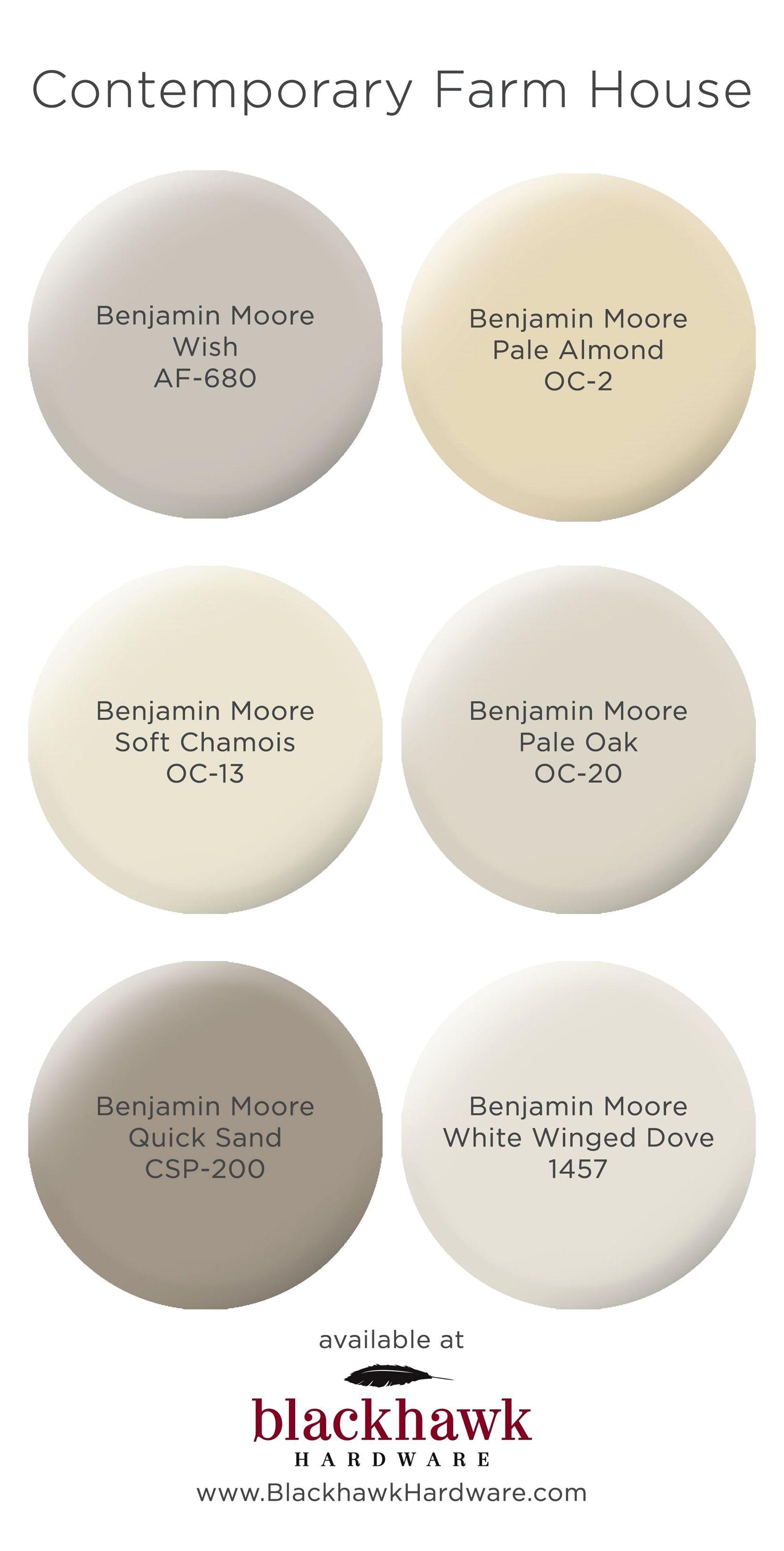 Contemporary farm house interior paint colors by benjamin moore kitcheninteriordesign