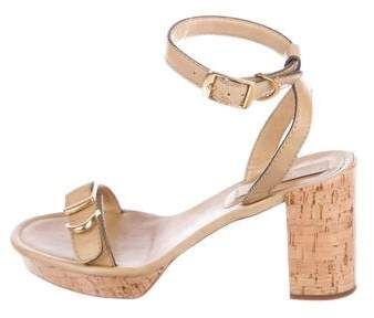 7ac5c6c7d73 Stella McCartney Vegan Leather Platform Sandals
