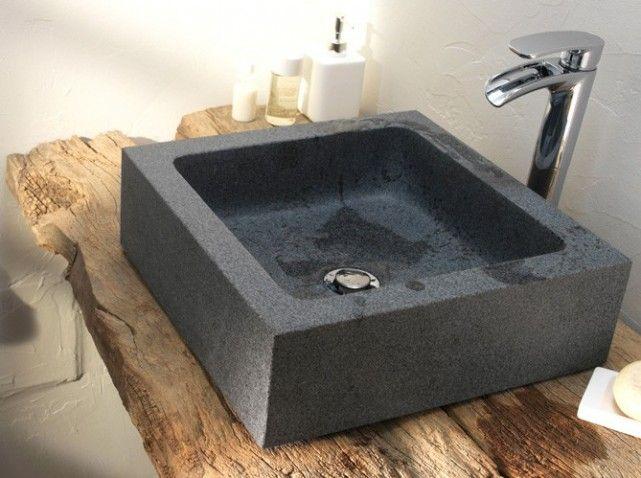 Vasque pierre   idées salle de bain   Pinterest   Vasque pierre ...