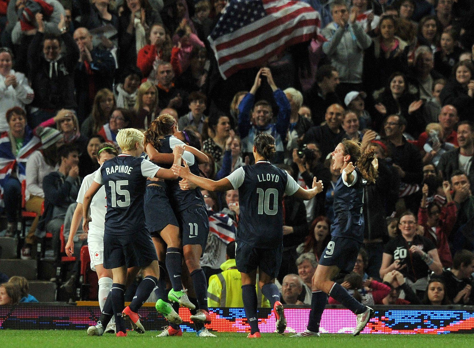 Alex Morgan scored the winning goal in the 123rd minute of play during the semifinal match against Canada.