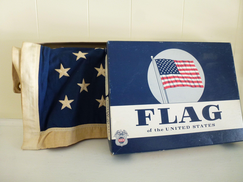 Usa Flag Annin Flagmakers Vintage Usa Flag American Flag Retro Flag Vintage Vintage Usa