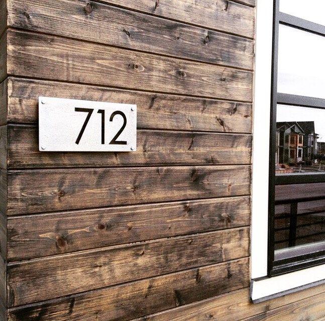Custom 12 Metal House Number Modern Numbers Rustic