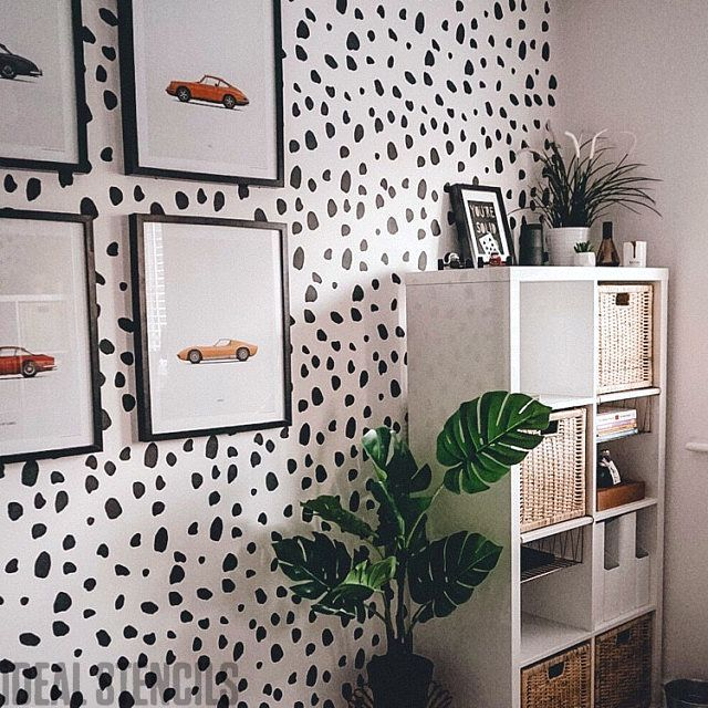 Dalmatian Spot Pattern Stencil Painting Walls Using Stencils Is Cheaper Than Wallpaper Click Through And See What You Can Do With Home Decor Room Decor Decor