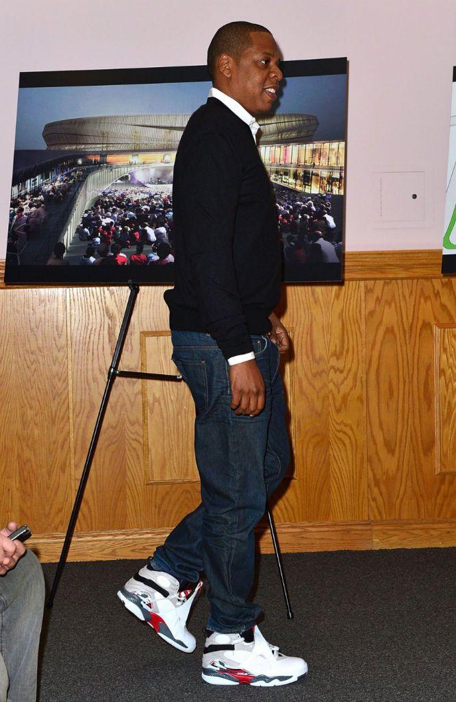 4a901d6443833b Jay-Z wearing Jordan XIII- Bugs Bunny Air Jordan Retro 8