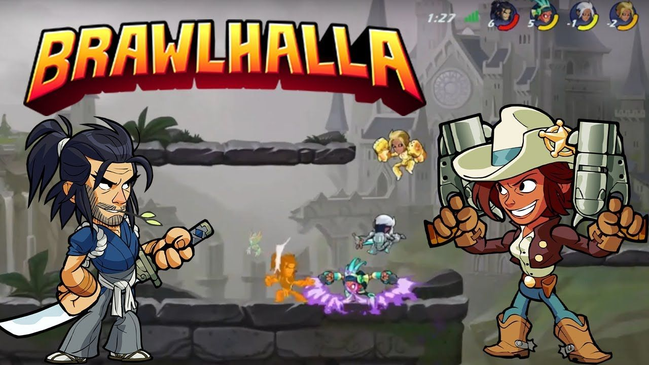 Koji and Cassidy free for all!- Brawlhalla Gameplay (PS4