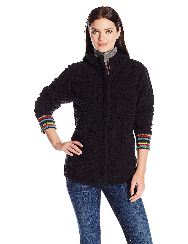 Cozy Striped Jacket - Cuff Night Black - Night Black ...