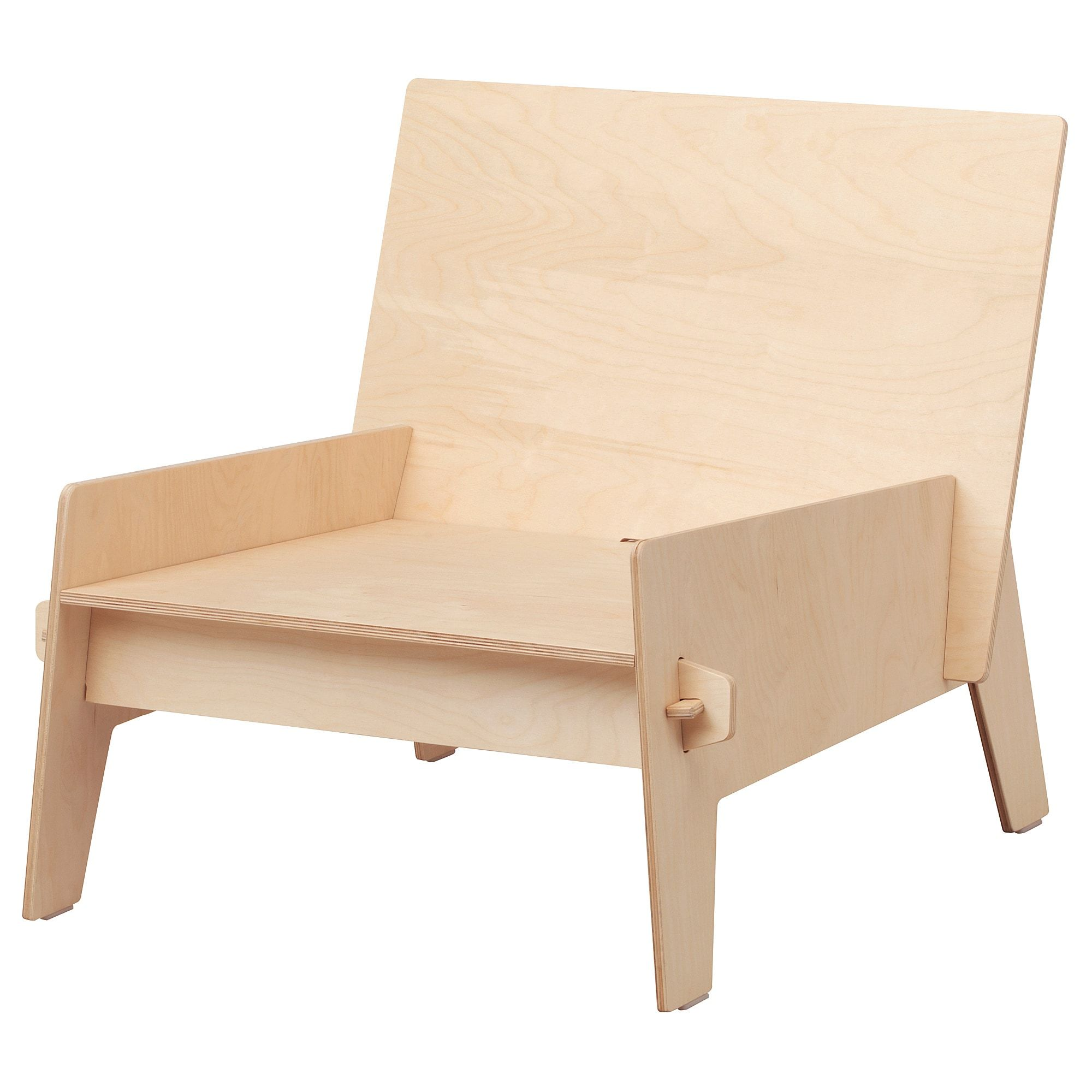 IKEA ÖVERALLT, Chair, plywood, Untreated wood; can be
