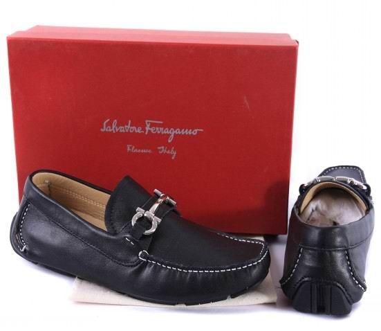 a3025537af6 Ferragamo Mens Moccasin Shoes Salvatore Ferragamo Driver Moccasin Black with  Gancio bit - Stylehive