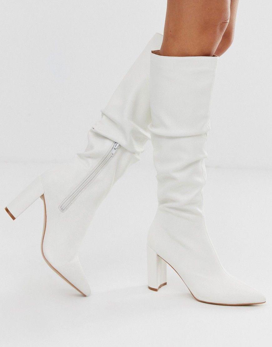 Public Desire mine white slouch knee