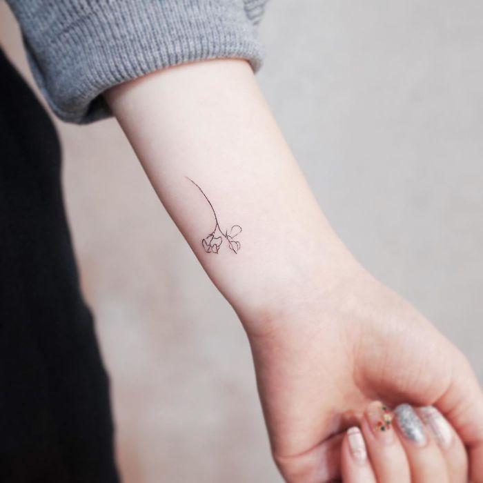 Simple Tattoo Discreet Tattoos Tiny Rose Tattoos Tattoos