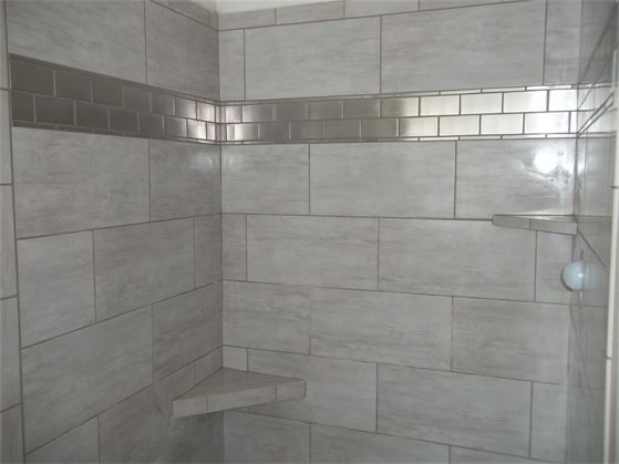 Large Vertical Tile In Shower Google Search Shower Wall Tile Master Shower Tile Bathroom Redecorating