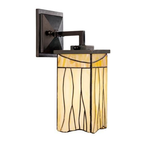 "May look nice next to breakfast bar.  Sedona Collection Tiffany Style 5"" Wide Wall Sconce 