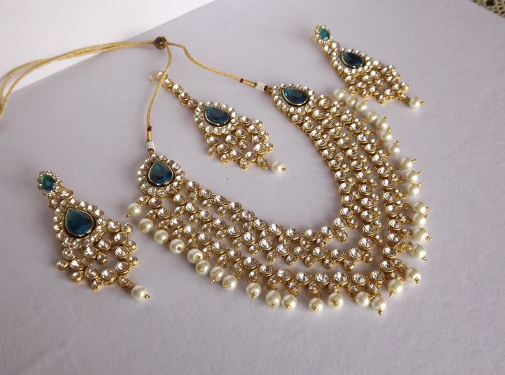 a934f698e07 Shop Haar Style Kundan   Pearl Necklace Set by Bhamini Jewellery    Accessories online. Largest collection of Latest Necklaces online.