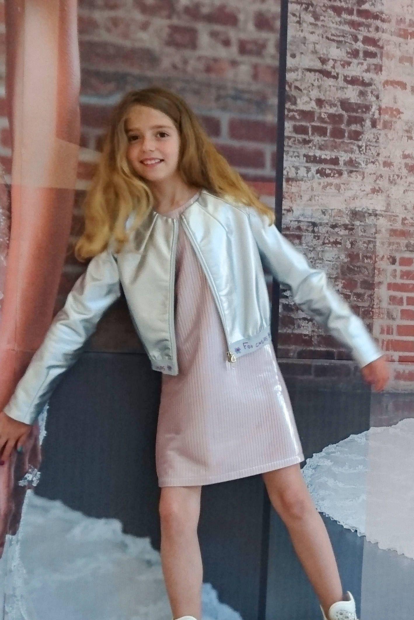 Unique Faux Leather Jacket, Toddler Girl Shiny Bomber ...