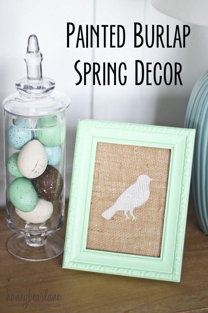 Easy Painted Spring Decor - Honeybear Lane
