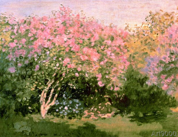 Claude Monet - Lilac in the Sun, 1873