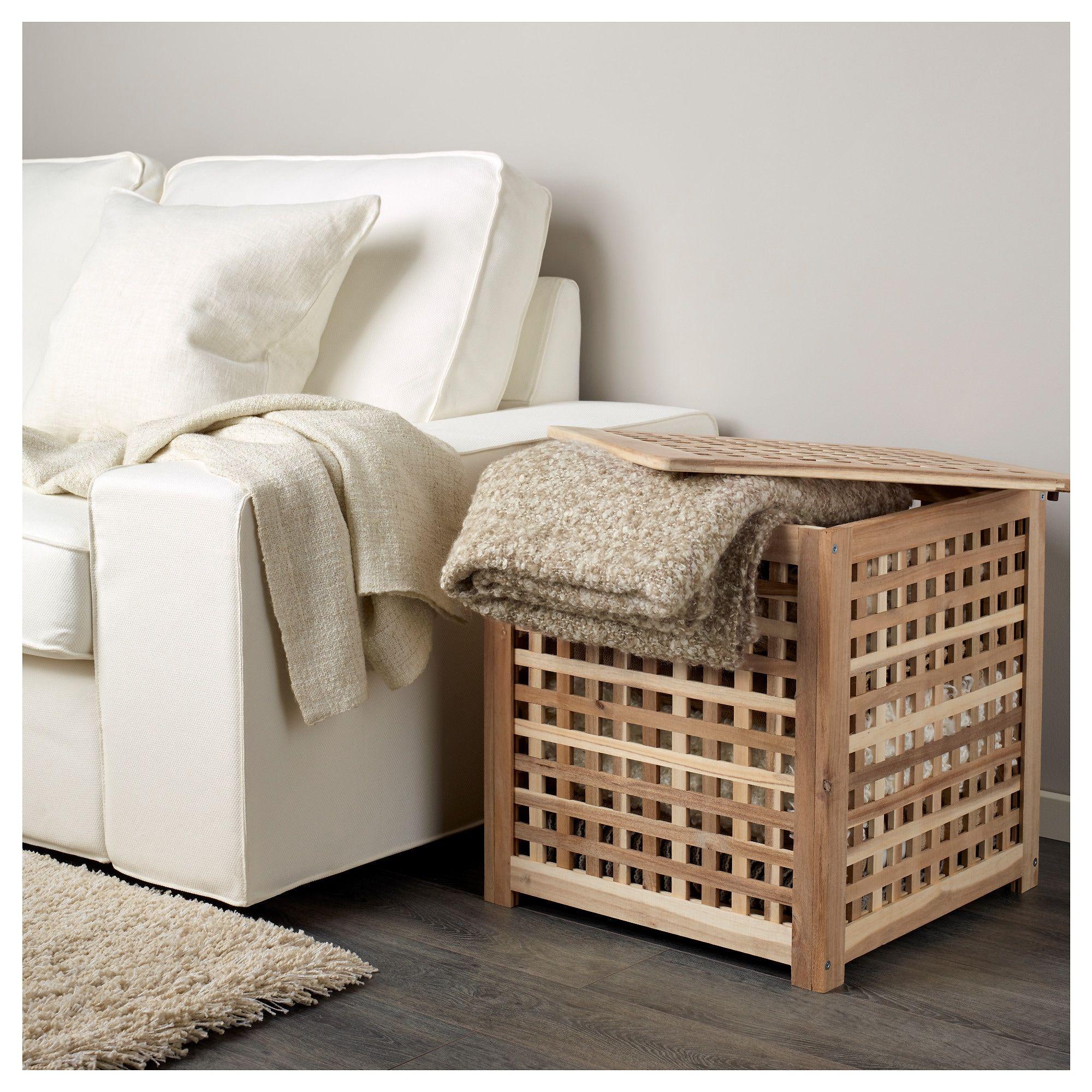 HOL acacia, Side table, 50x50 cm IKEA in 2020 Ikea