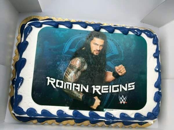 WWE Roman Reigns Birthday Cake b day caje Pinterest Wwe