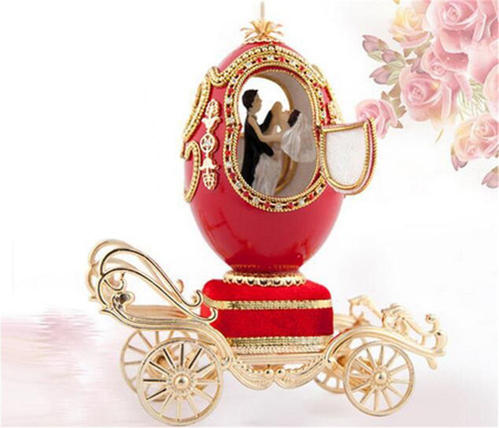 Anniversary lover wedding decoration red carriage goose egg music