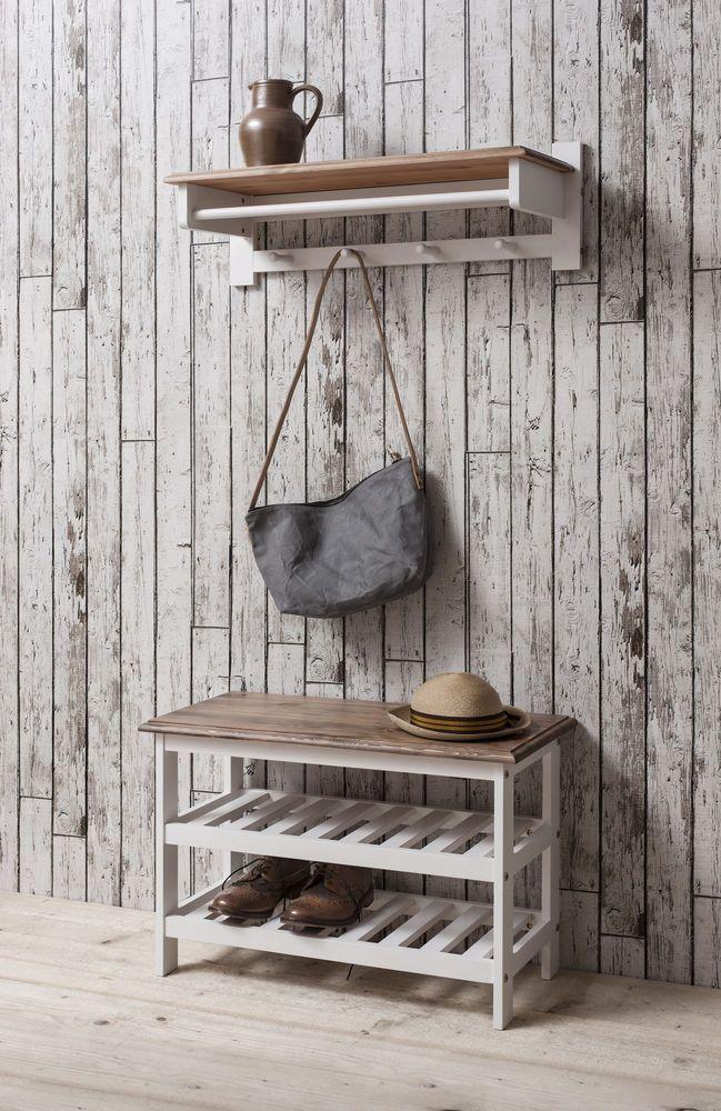 Shoe Storage Unit In Dark Pine U0026 White Shoe Cabinet And Coat Hook