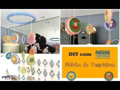 DIY com Nestlé: Móbile Criativo (e Fofo) de Tampinhas | Organize sem Fre...