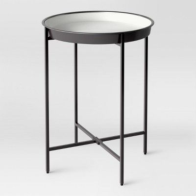 Pradet Tray Accent Table Black White Project 62 Cheap End Tables Black Side Table Round Accent Table