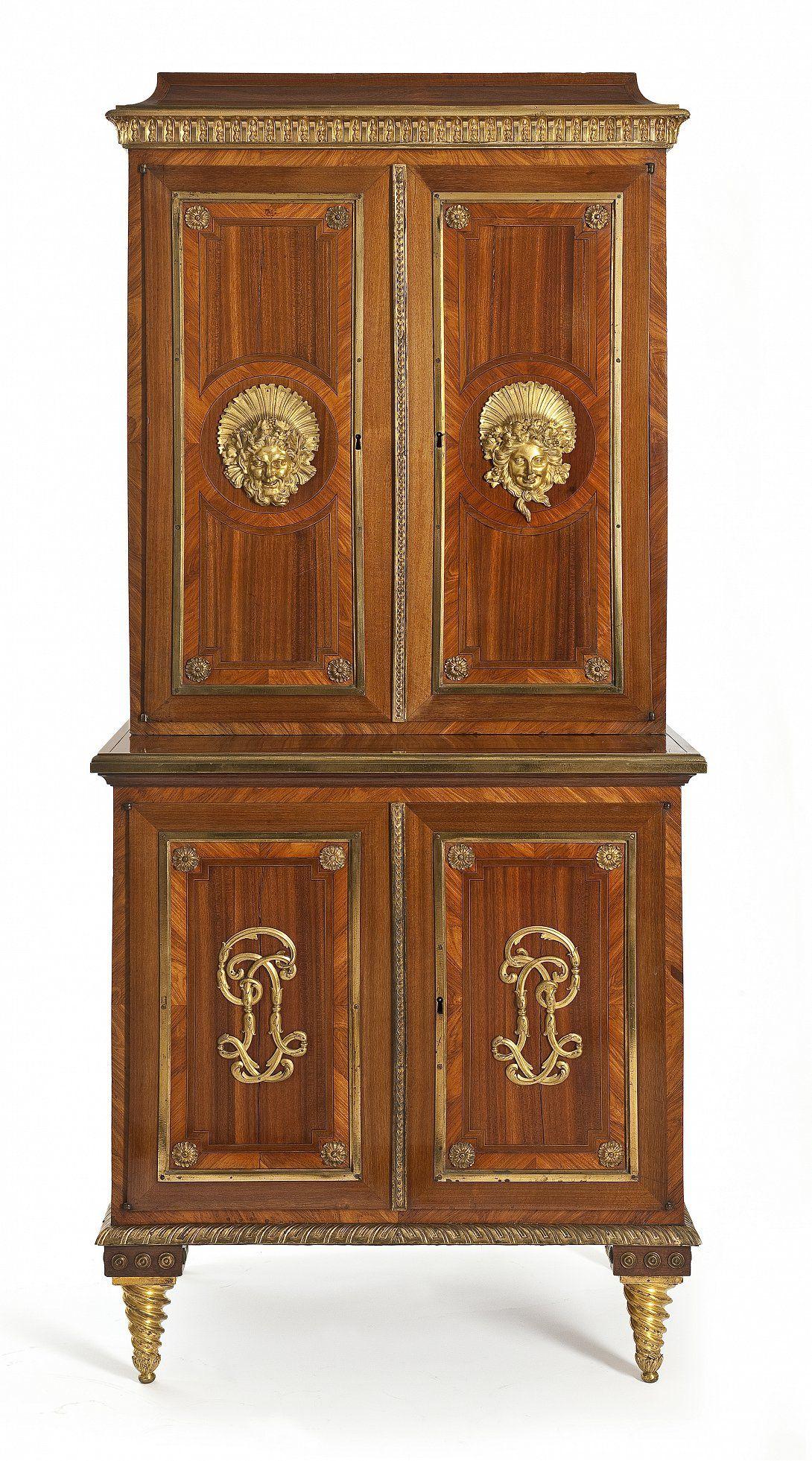 Cabinet Paris Circa 1770 1775 Pierre Garnier Cabinet Frame Oak Veneer Satin Ebony Rosewood And Ama Neoclassical Furniture Antique Armoire Gilded Furniture