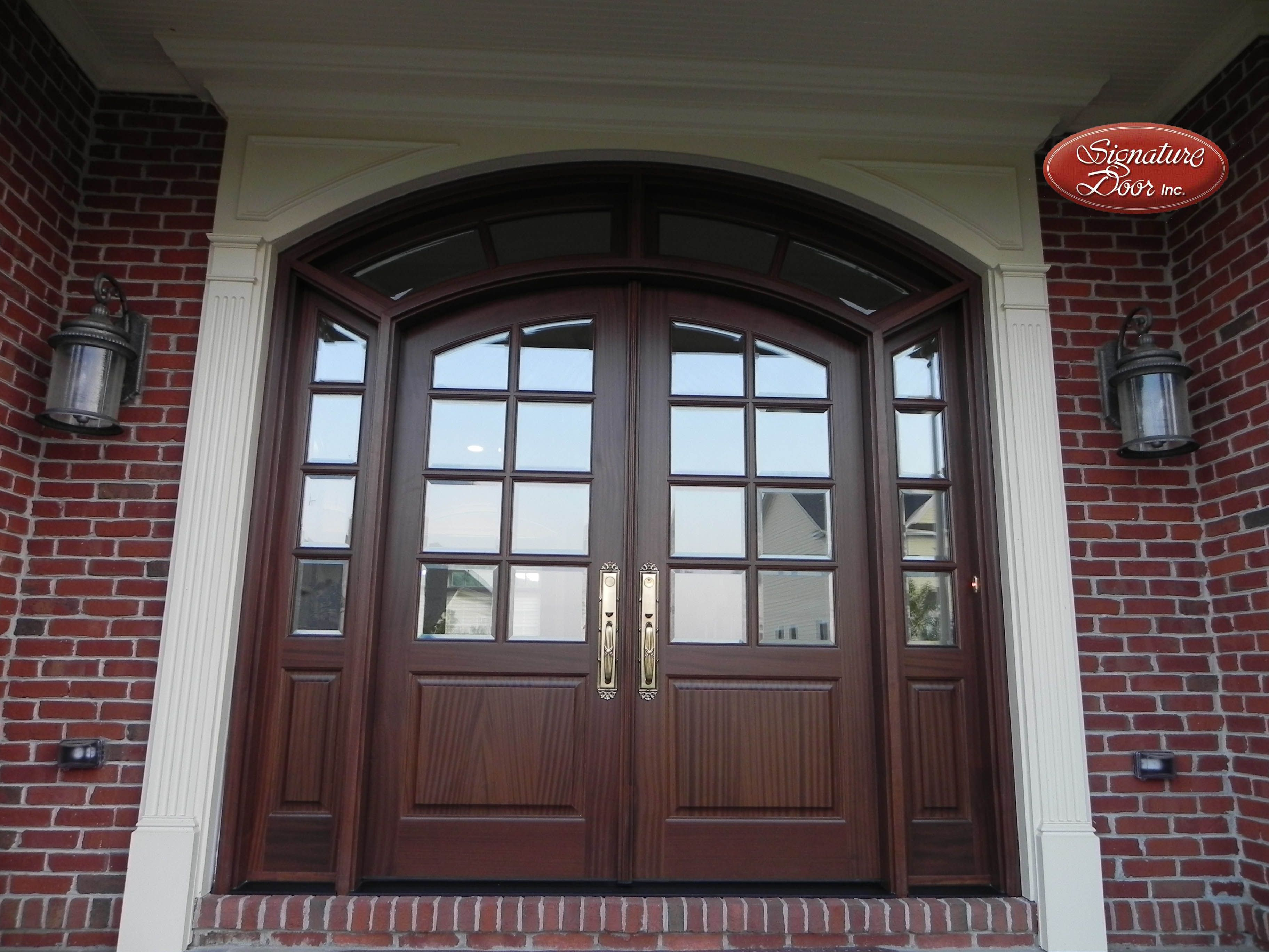 Double Door Sidelights And Transom Entry Door With Sidelights Front Doors With Windows Wood Entry Doors