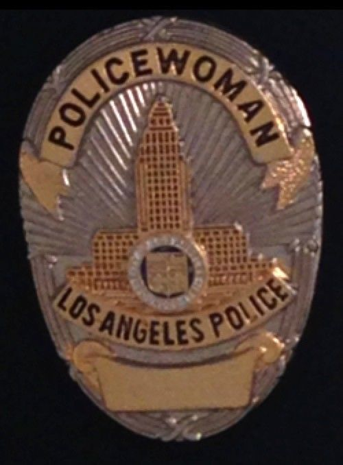 Los Angeles Mini Metal Police Badge New Policewoman Shield Cops Lapel Pin Lapd Police Badge Police Badge