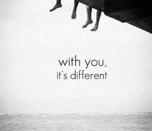 different, me, cute, you, WITH, black and white, sea, text