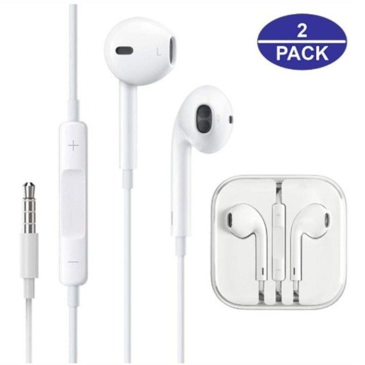 2 Pack Earbuds Premium In Ear Wired Earbuds Wired Headphones Earphone