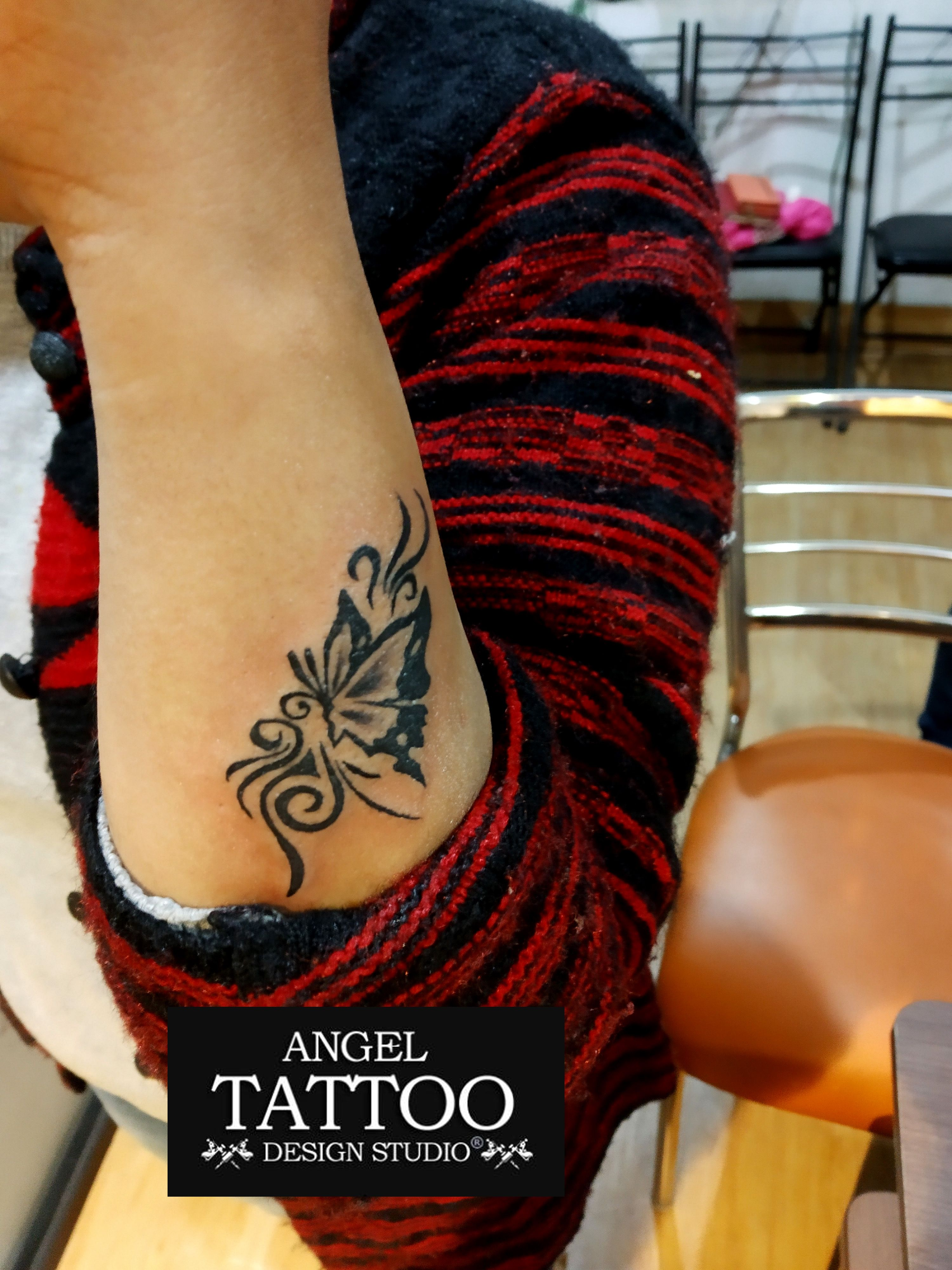 Butterfly Tattoo On Wrist Made At Angel Tattoo Design Studio Gurgaon Butterfly Tattoo On Wrist Butterfly Wrist Tattoo Butterfly Tattoo Tattoos