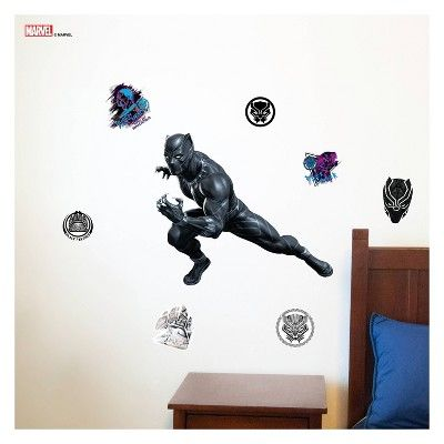 Black Panther Wall Decal, decorative wall and door art