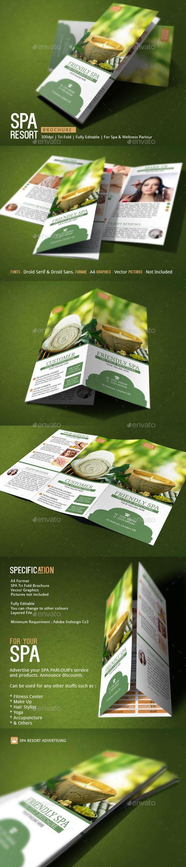 Pin de Branding Los Angeles en Spa Brochure Design   Pinterest