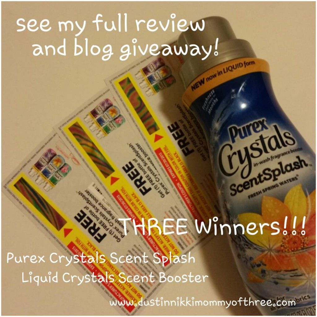 New Purex Crystals Scent Splash Laundry Scent Booster Review
