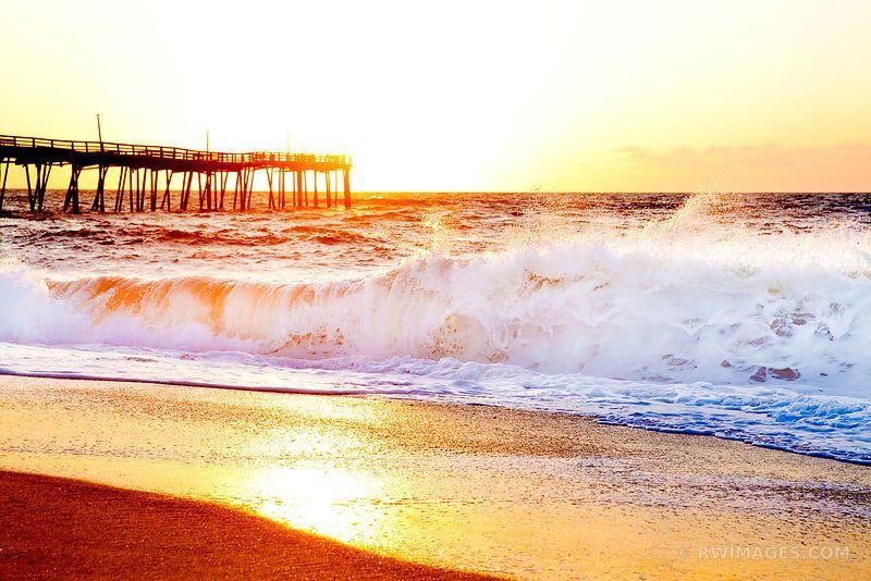 Framed photo print of frisco pier atlantic ocean beach